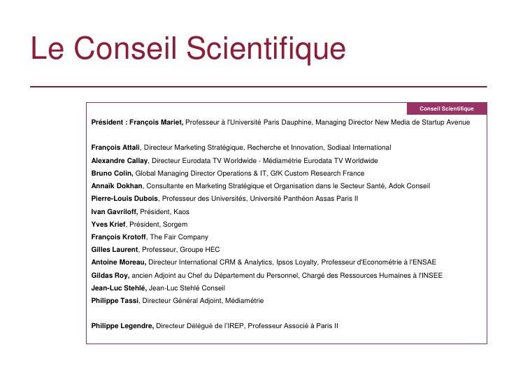 Le Conseil Scientifique                                                                                                   ...