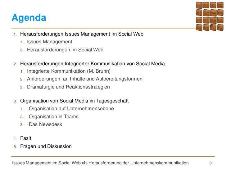 Issues Management als Herausforderung der Unternehmenskommunikation Slide 3
