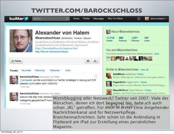 TWITTER.COM/BAROCKSCHLOSS                              Microblogging oder Netzwerk? Twitter seit 2007. Viele der          ...