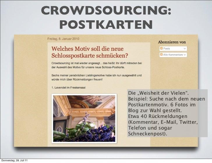 """CROWDSOURCING:                            POSTKARTEN                                   Die """"Weisheit der Vielen"""".         ..."""