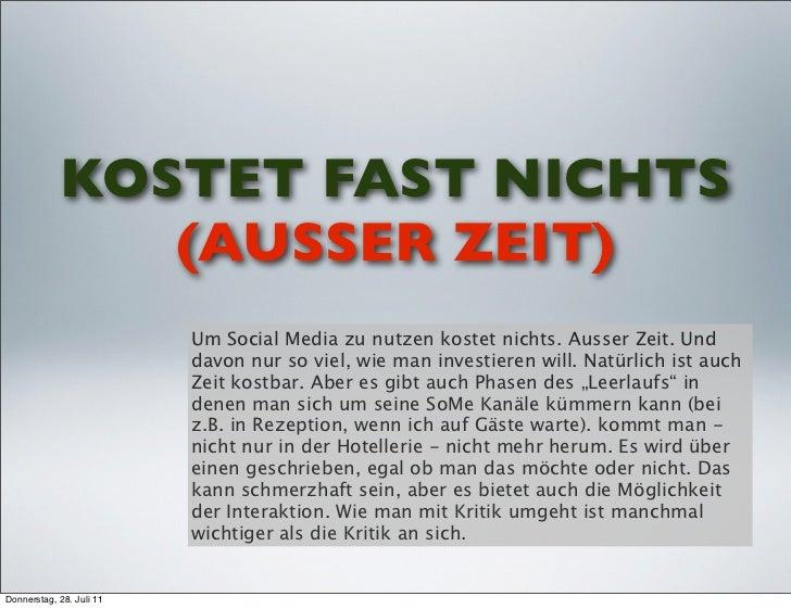KOSTET FAST NICHTS               (AUSSER ZEIT)                          Um Social Media zu nutzen kostet nichts. Ausser Ze...