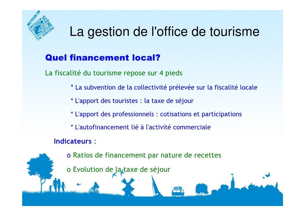 Calcul des indicateurs pour un office de tourisme 12 03 2010 jean luc - Mission office de tourisme ...