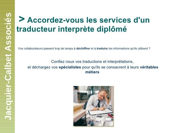 Présentation de Jacquier-Calbet Associés Slide 3