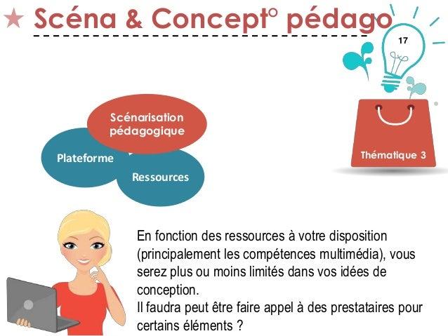 17 Scéna & Concept° pédago Thématique 3Plateforme Ressources Scénarisation pédagogique En fonction des ressources à votre ...