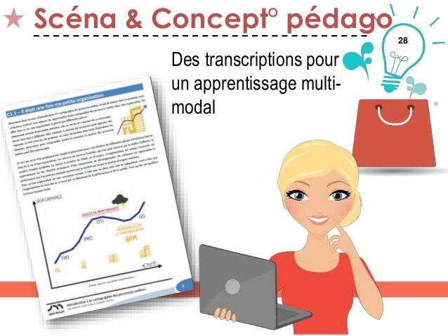 28 Scéna & Concept° pédago Des transcriptions pour un apprentissage multi- modal