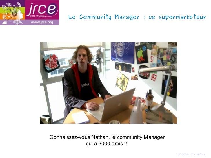 Le Community Manager: ce supermarketeurConnaissez-vous Nathan, le community Manager             qui a 3000 amis ?        ...