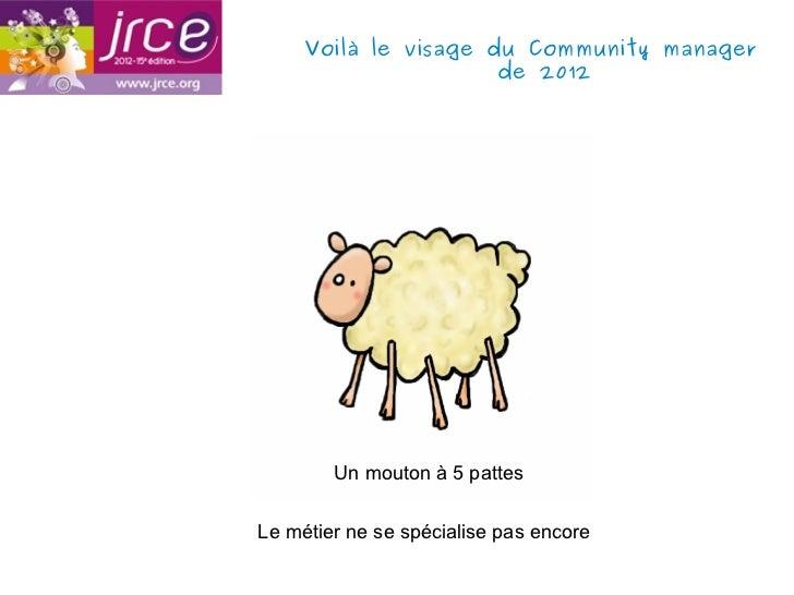 Voilà le visage du Community manager                      de 2012        Un mouton à 5 pattesLe métier ne se spécialise pa...