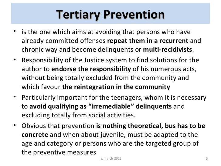 primary secondary and tertiary crime prevention