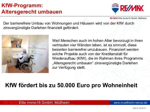 KfW-Programm: Altersgerecht umbauen Slide 2