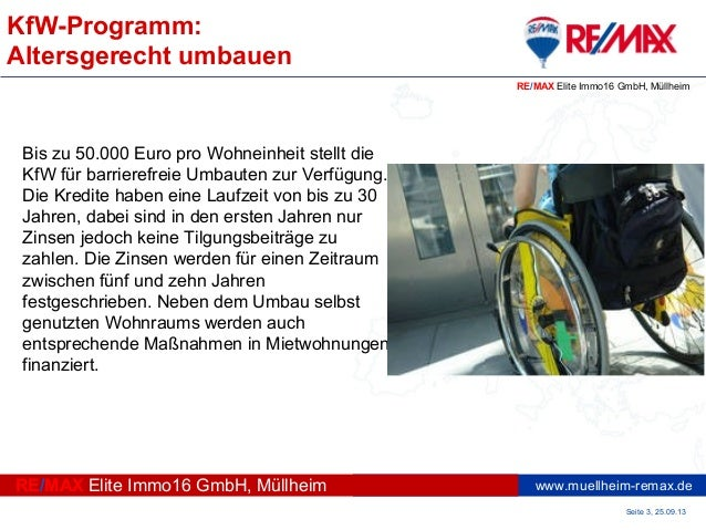 KfW-Programm: Altersgerecht umbauen Slide 3