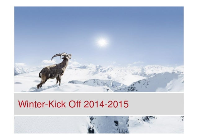 Winter-Kick Off 2014-2015