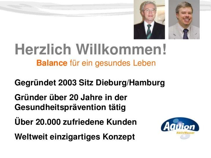 Herzlich Willkommen!     Balance für ein gesundes LebenGegründet 2003 Sitz Dieburg/HamburgGründer über 20 Jahre in derGesu...