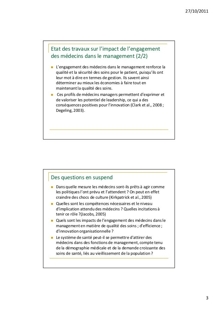 Exploration des pôles : terra nova du management hospitalier ? Slide 3