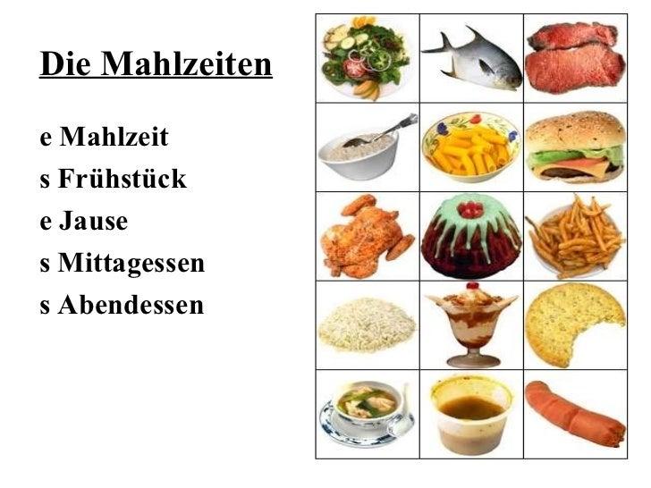 <ul>Brot und Backwaren </ul><ul><li>s Brot (Weißbrot, Vollkornbrot, Roggenbrot)