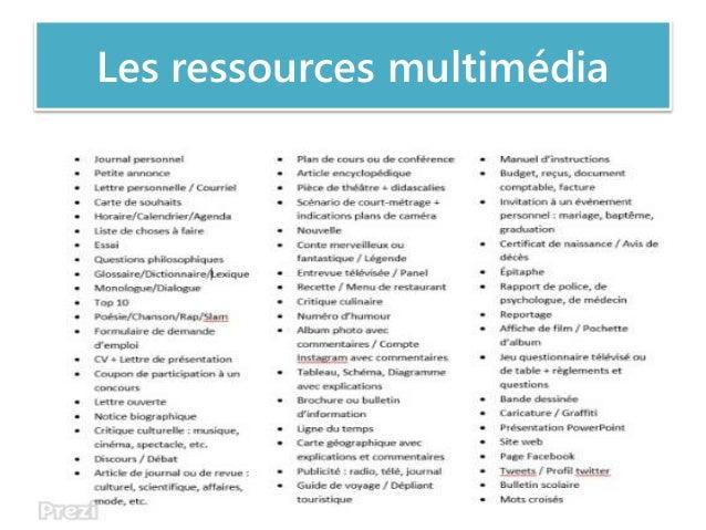 Les ressources multimédia