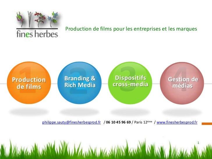 Production de films pour les entreprises et les marques<br />1<br />3<br />4<br />2<br />Production  de films<br />Disposi...