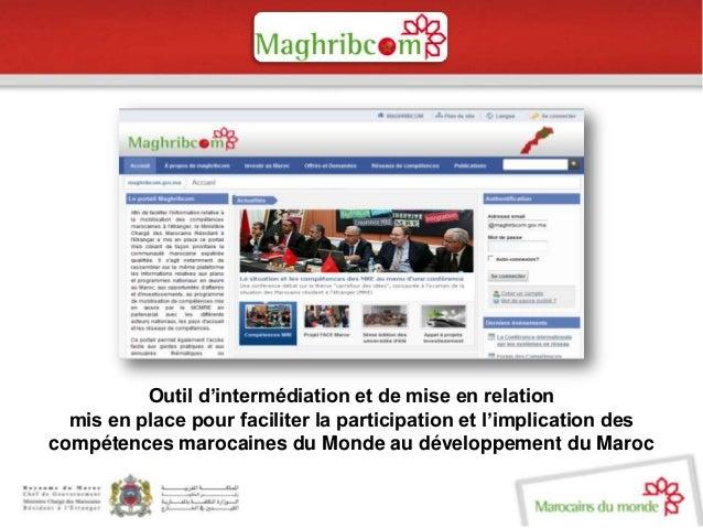 Présentation maghribcom.gov.ma  Slide 2
