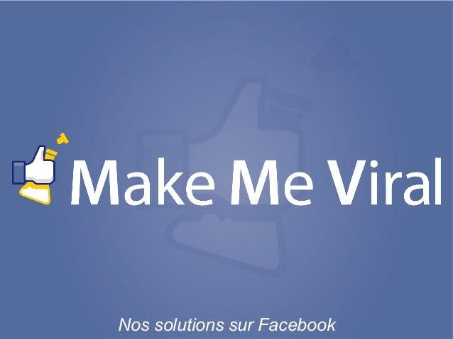 Nos solutions sur Facebook