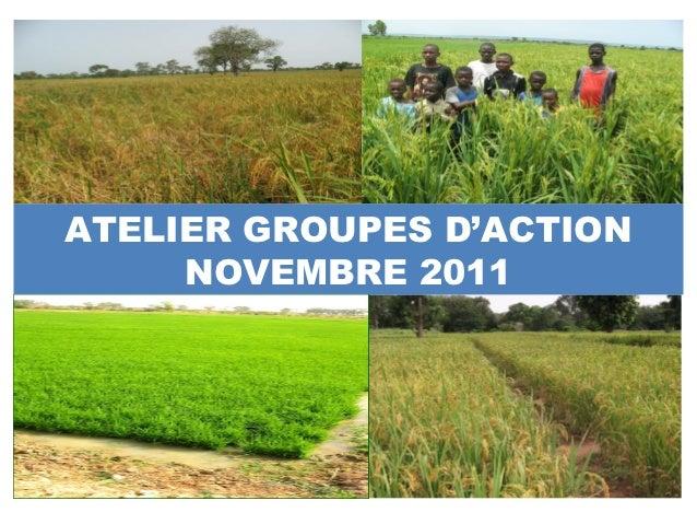 ATELIER GROUPES D'ACTION     NOVEMBRE 2011