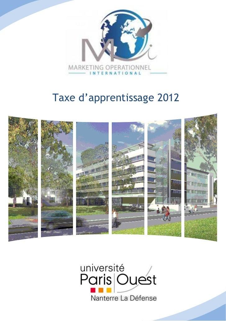 Taxe d'apprentissage 2012