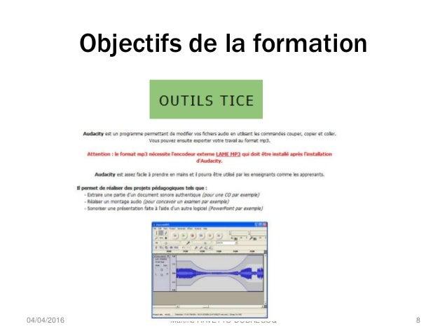 Objectifs de la formation Martine RAVETTO-DUBREUCQ 804/04/2016