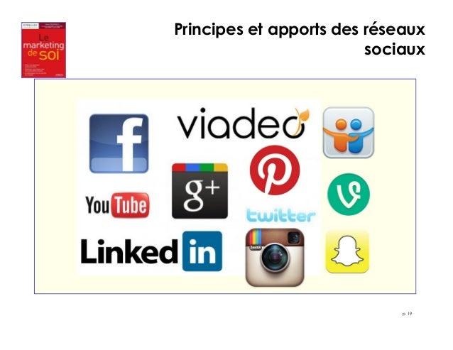 Principes et apports des réseaux  sociaux  p 19