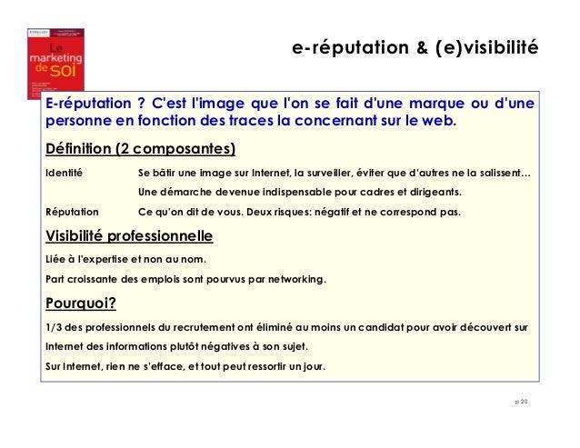 e-réputation & (e)visibilité  E-réputation ? C'est l'image que l'on se fait d'une marque ou d'une  personne en fonction de...