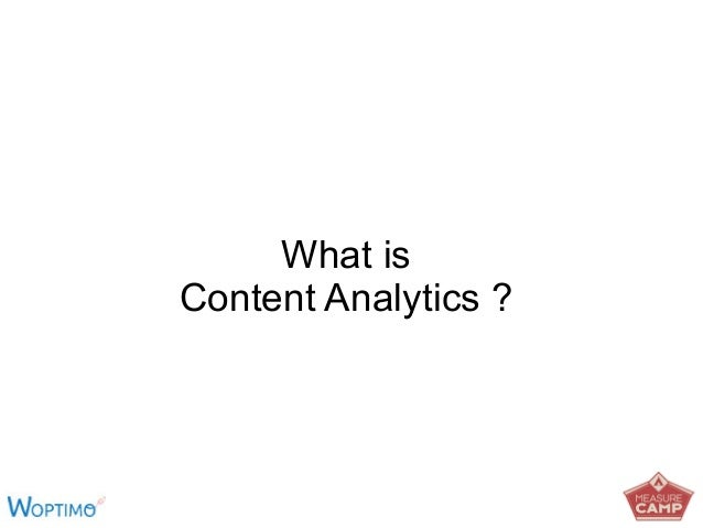 What is Content Analytics ?