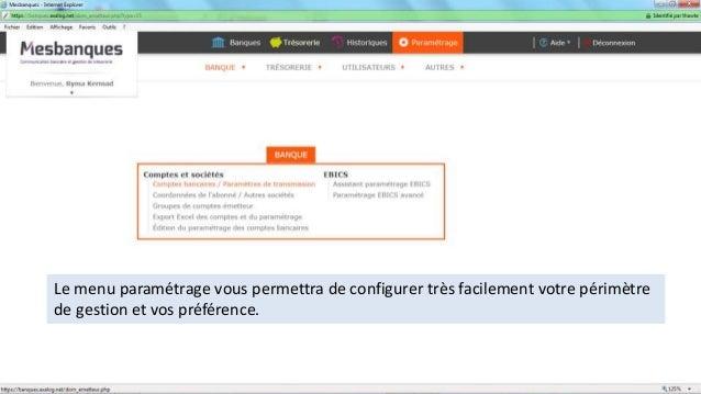 Le menu paramétrage vous permettra de configurer très facilement votre périmètre de gestion et vos préférence.