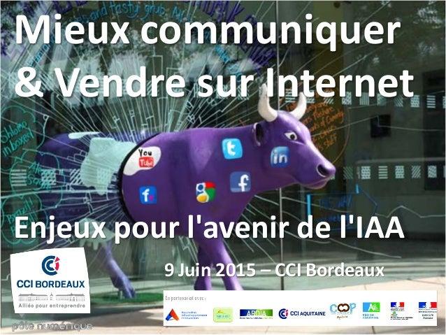 Mieux communiquer & Vendre sur Internet Enjeux pour l'avenir de l'IAA 9 Juin 2015 – CCI Bordeaux