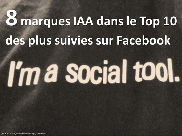 www.flickr.com/photos/stephenyeargin/7466499498 8marques IAA dans le Top 10 des plus suivies sur Facebook