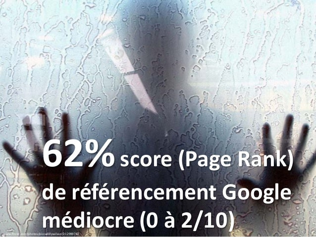 www.flickr.com/photos/piccadillywilson/212999782 62%score (Page Rank) de référencement Google médiocre (0 à 2/10)