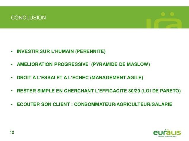Merci de votre attention Ignacio ECEIZA Responsable NTIC Groupe Euralis ignacio.eceiza@euralis.com