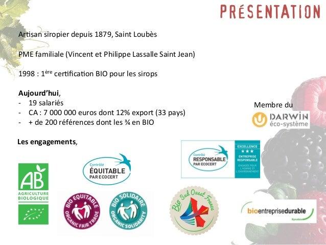 LES SITES MENEAU Le site Corporate 100 à 150 visites par jour Le blog, les actus www.biocommemeneau.com Les réseaux sociau...
