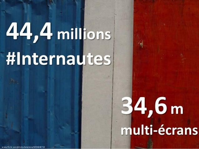 www.flickr.com/photos/taketone/6394640713 44,4millions #Internautes 34,6m multi-écrans