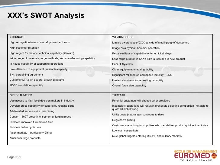 bombardier swot analysis Bombardier inc (bombardier) is a manufacturer of aircraft and trains it designs and manufactures business and commercial aircraft, designs, manufactures and supports rail equipment and systems the company provides aftermarket component repair and overhaul, and other engineering services.