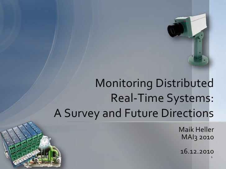 Monitoring Distributed          Real-Time Systems:A Survey and Future Directions                       Maik Heller        ...