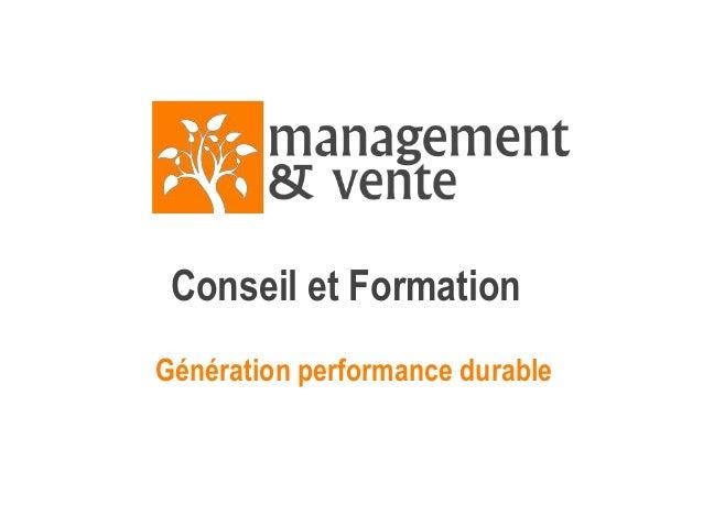 Conseil et Formation Génération performance durable