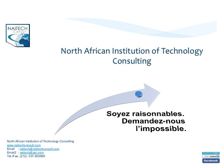 North African Institution of Technology                                                             Consulting ...