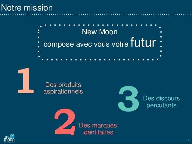 4 New Moon compose avec vous votre futur Des produits aspirationnels Des marques identitaires Des discours percutants Notr...