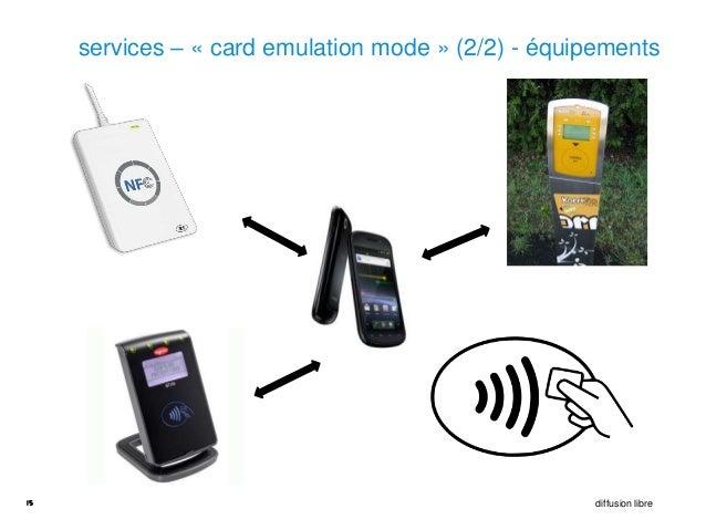 services – « card emulation mode » (2/2) - équipements15                                                   diffusion libre