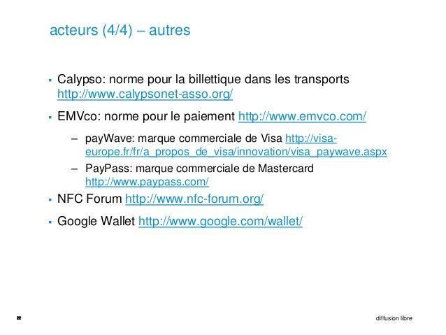 acteurs (4/4) – autres        Calypso: norme pour la billettique dans les transports         http://www.calypsonet-asso.o...