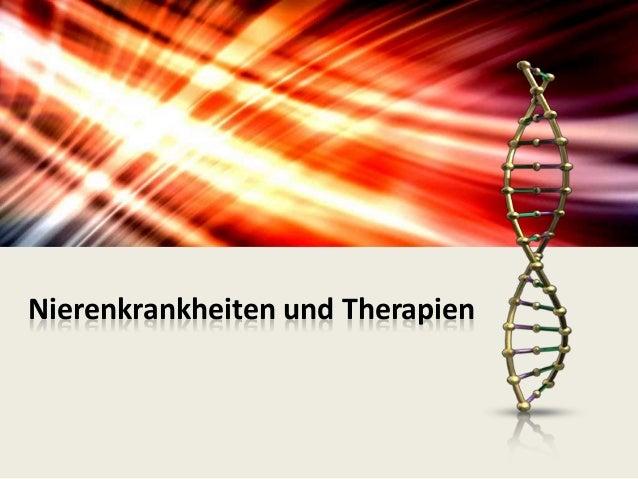 Nierenkrankheiten und Therapien