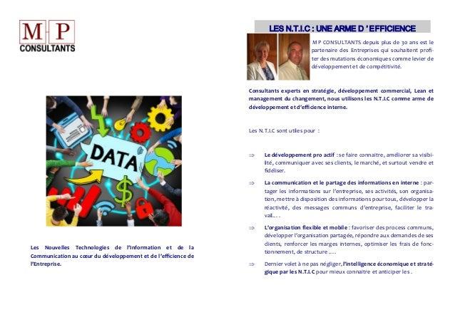 Les Nouvelles Technologies de l'Information et de la Communication au cœur du développement et de l'efficience de l'Entrep...
