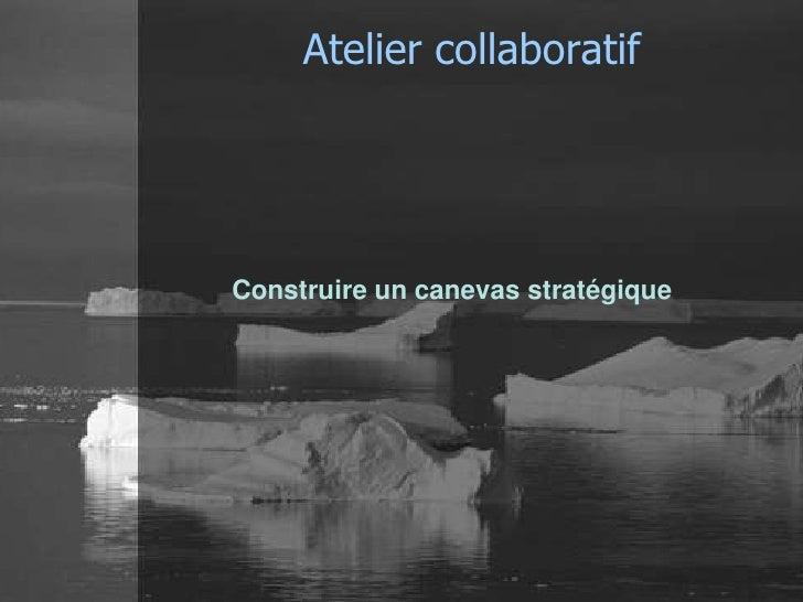 Atelier collaboratifConstruire un canevas stratégique