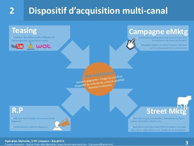 2  Dispositif d'acquisition multi-canal  Teasing > Création de vidéos virales diffusée sur l'ensemble des plateformes vidé...
