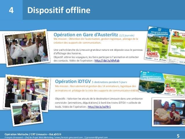 4  Dispositif offline Opération en Gare d'Austerlitz (1/2 journée) Ma mission : Obtention de l'autorisation, gestion logis...