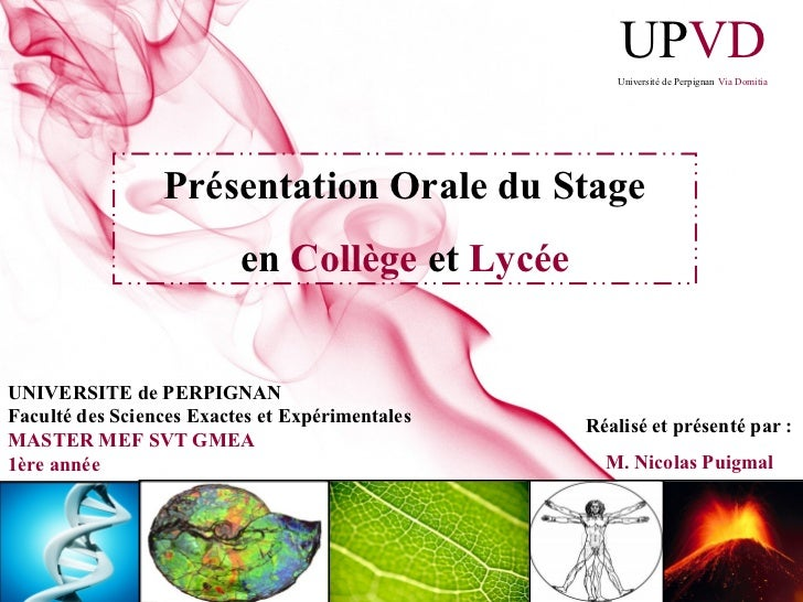 UPVD                                                    Université de Perpignan Via Domitia                 Présentation O...
