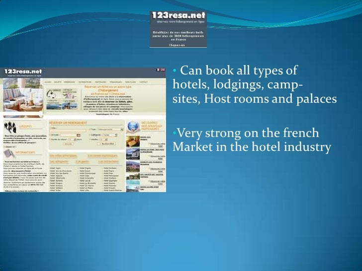 <ul><li> Can book all types of hotels, lodgings, camp-sites, Host rooms and palaces