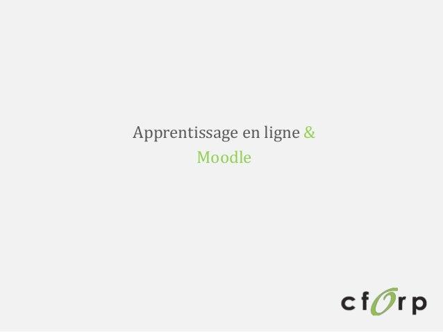 Apprentissage en ligne & Moodle